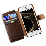VRS Design [Layered Dandy Series] Apple iPhone 5/5s/SE Case - Coffee Brown - Side