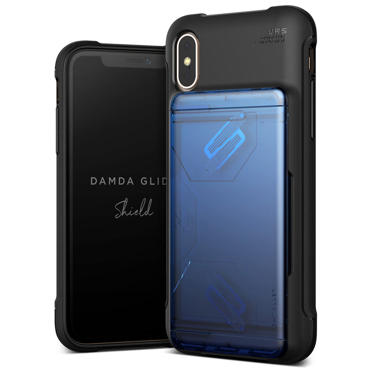 VRS Design | Apple iPhone Xs Case Damda Glide Shield series - Blue Black