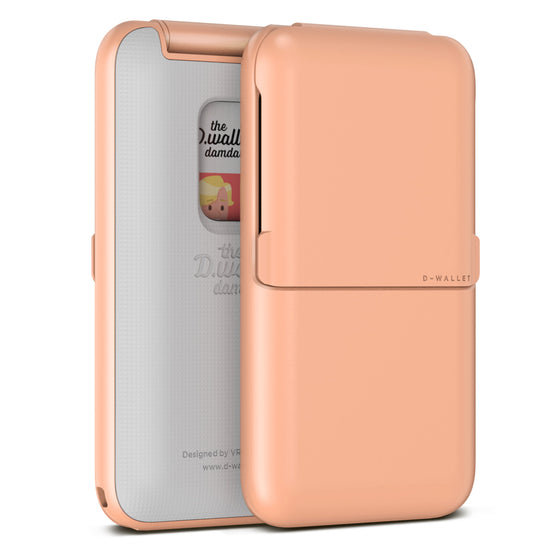 VRS Design | Damda Wallet Folder Plain Solid- Peach