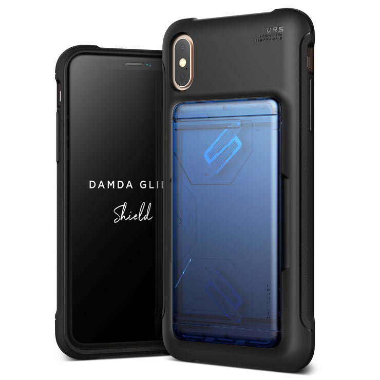 VRS Design | Apple iPhone Xs Max Case Damda Glide Shield series - Blue Black