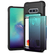 VRS Design | Samsung Galaxy S10e Case Damda Shield Wallet Card Case - Green Purple