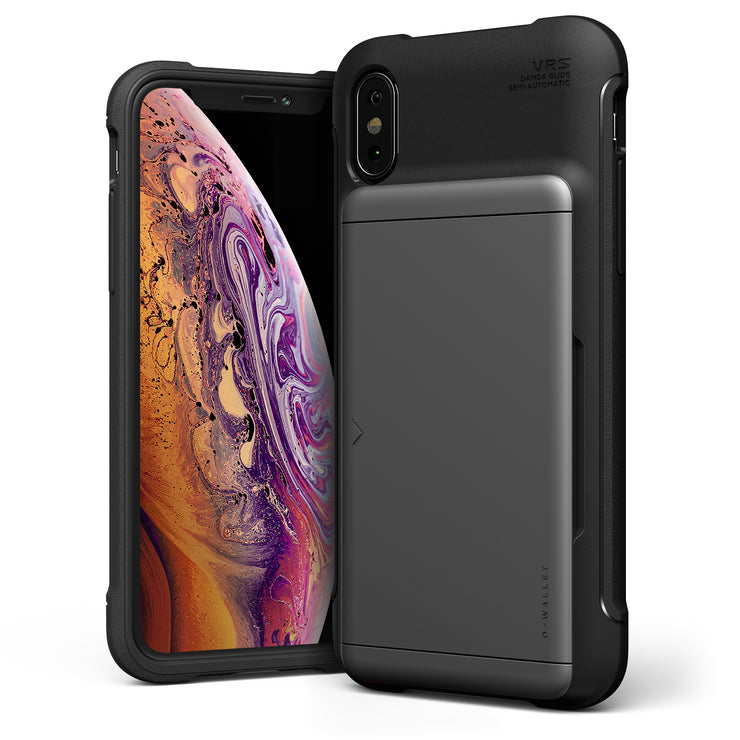 VRS Design | iPhone Xs Max Case Damda Shield - Steel Silver