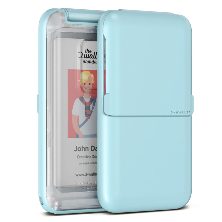VRS Design | Damda Wallet Folder Plain Clear - Sky Blue