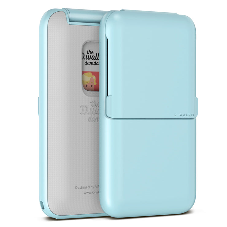 VRS Design | Damda Wallet Folder Plain Solid- Sky Blue
