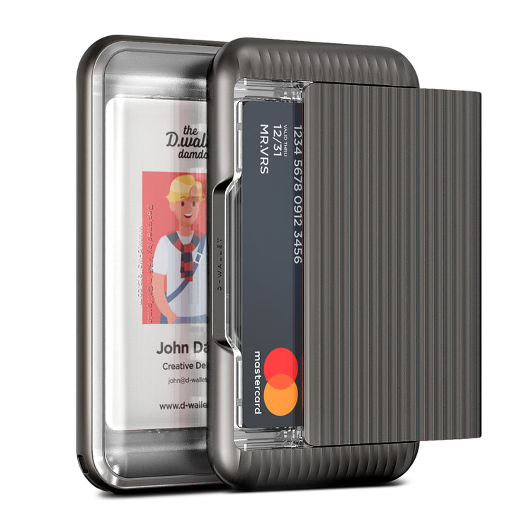 VRS Design | Damda Wallet Glide Clear - Steel Silver