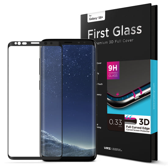 VRS Design | Galaxy S8 Plus First Glass Screen Protector - Black