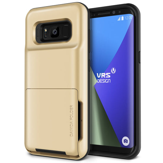 VRS Design | Damda Folder Case for Galaxy S8 Plus - Shine Gold
