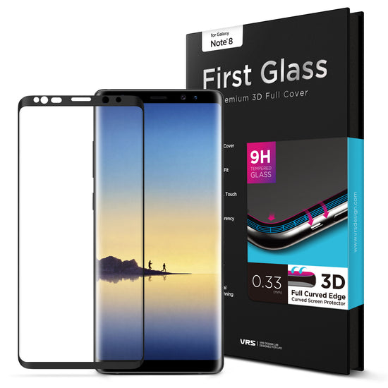 VRS Design | Galaxy Note 8 First Glass Screen Protector - Black