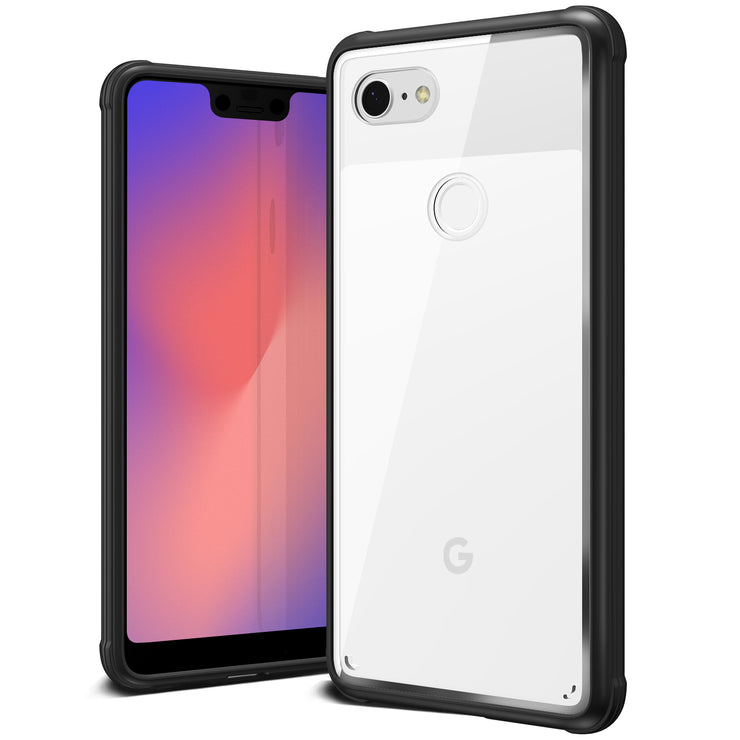 VRS Design | Google Pixel 3 XL Case Crystal Chrome Series - Black