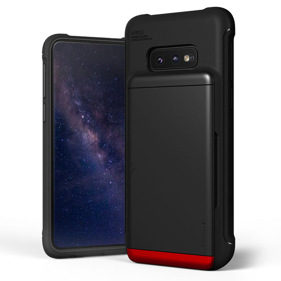 VRS Design | Samsung Galaxy S10e Case Damda Shield Wallet Card Case - Matte Black