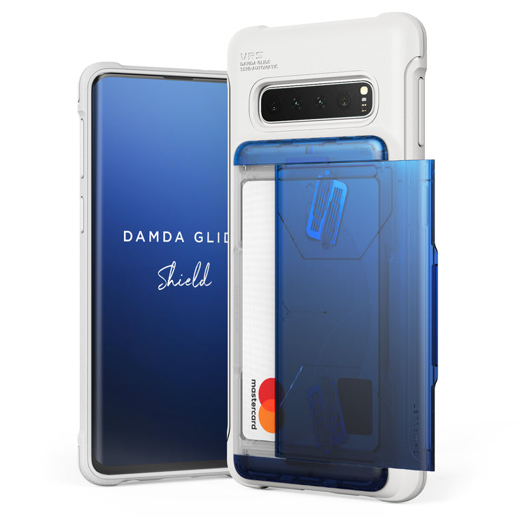 VRS Design | Galaxy S10 Case Damda Shield White Series - Blue Black