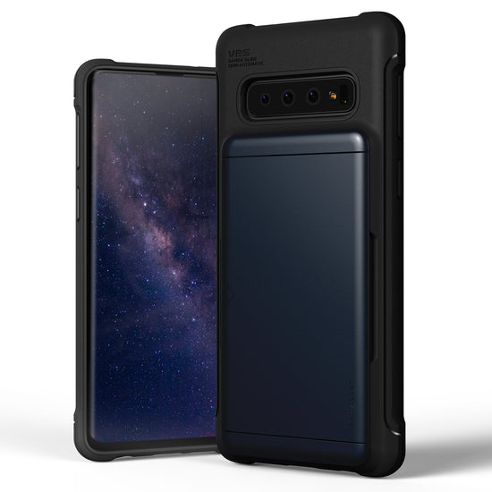 VRS Design | Samsung Galaxy S10 Case Damda Shield Wallet Card Case - Deep Sea Blue