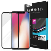 VRS Design | iPhone X First Glass Screen Protector - Black