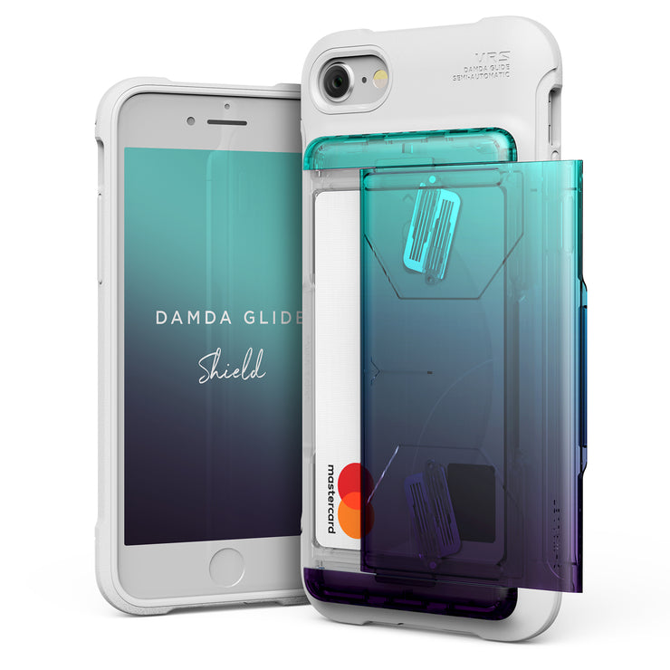 VRS Design | Apple iPhone 8/7 Case Damda Shield Solid White series - Green Purple