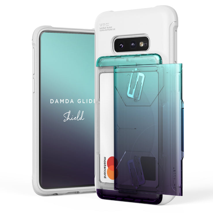 VRS Design | Galaxy S10e Case Damda Shield White Series - Green Purple
