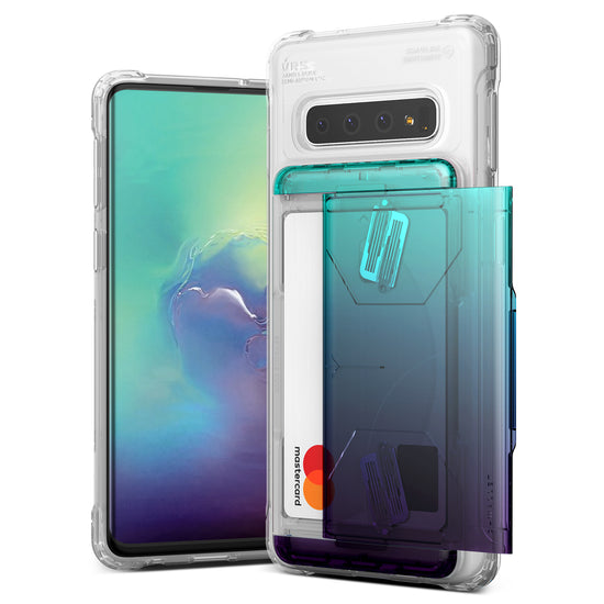 VRS Design | Galaxy S10 Case Damda Shield Clear Series - Green Purple