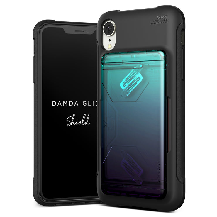 VRS Design | Apple iPhone XR Case Damda Glide Shield series - Green Purple
