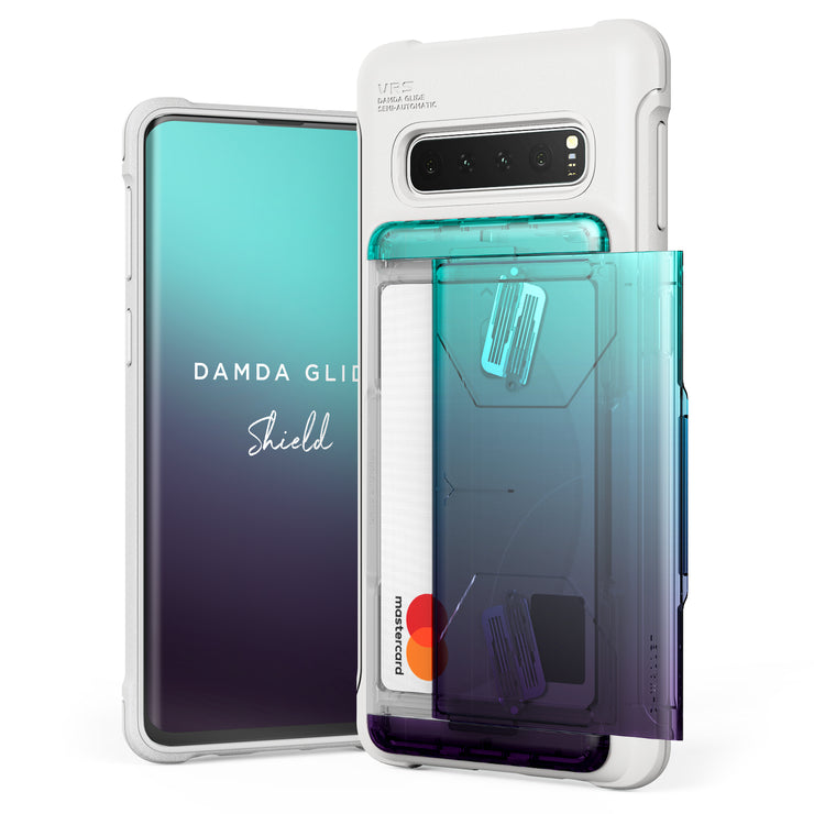 VRS Design | Galaxy S10 Case Damda Shield White Series - Green Purple
