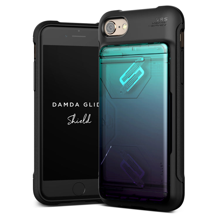 VRS Design | Apple iPhone 8/7 Case Damda Glide Shield series - Green Purple