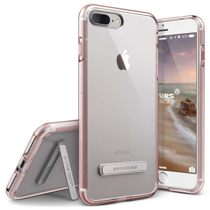 VRS Design [Crystal Mixx Series] Apple iPhone 7 Plus Case - Rose Gold - Main