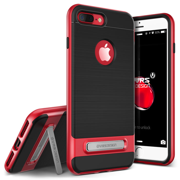 VRS Design | iPhone 8 Plus/7 Plus High Pro Shield Case with Kickstand - Red