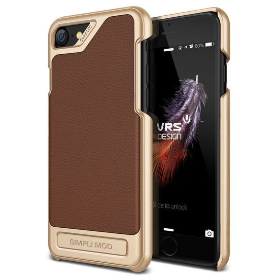 VRS Design [Simpli Mod Series] iPhone 7 Case - Brown - Main