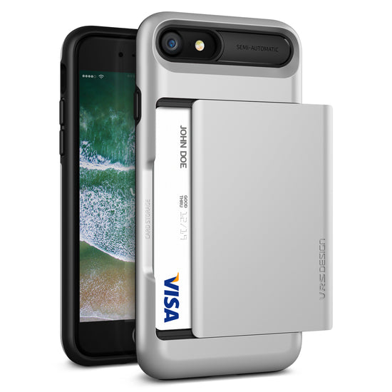 VRS Design [Damda Glide Series] Apple iPhone 7 Case - Satin Silver