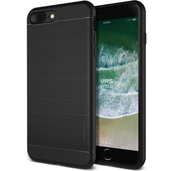 VRS Design [Simpli Fit Series] Apple iPhone 8 Plus/7 Plus Case - Black - Main