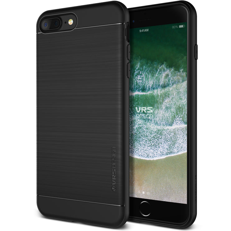 VRS Design [Simpli Fit Series] Apple iPhone 8 Plus/7 Plus Case - Black