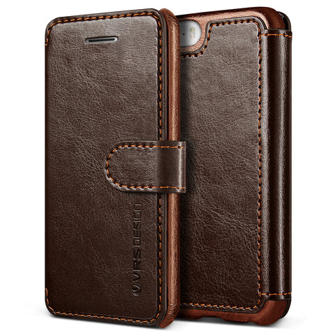 VRS Design [Layered Dandy Series] Apple iPhone 5/5s/SE Case - Coffee Brown - Main