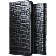VRS Design | Genuine Croco Diary Case for iPhone X / XS - Satin Blue