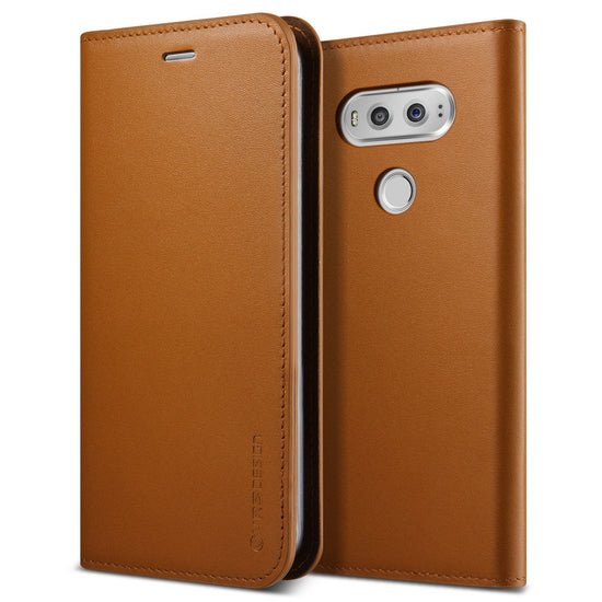 VRS Design [Genuine Leather Diary Series] LG V20 Case - Brown