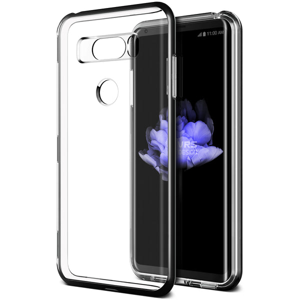 VRS Design [Crystal Bumper Series] LG V30 Case - Metallic Black - Main