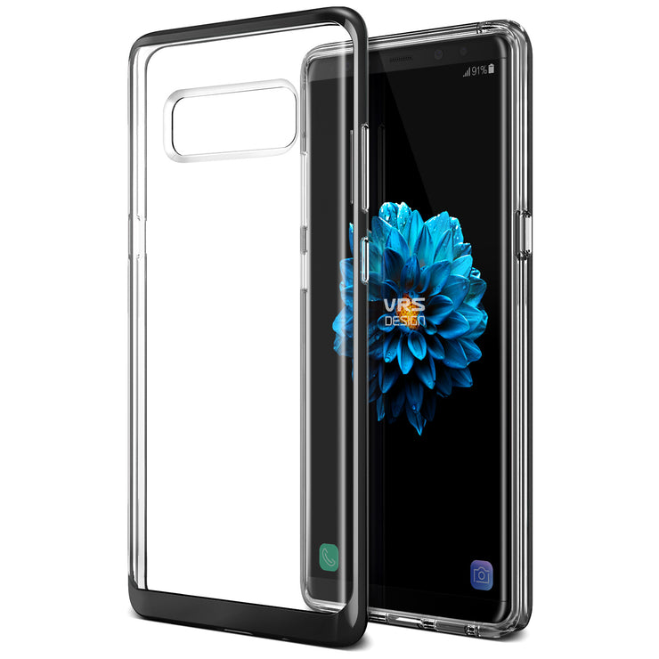 VRS Design | Crystal Bumper Case for Galaxy Note 8 - Metallic Black