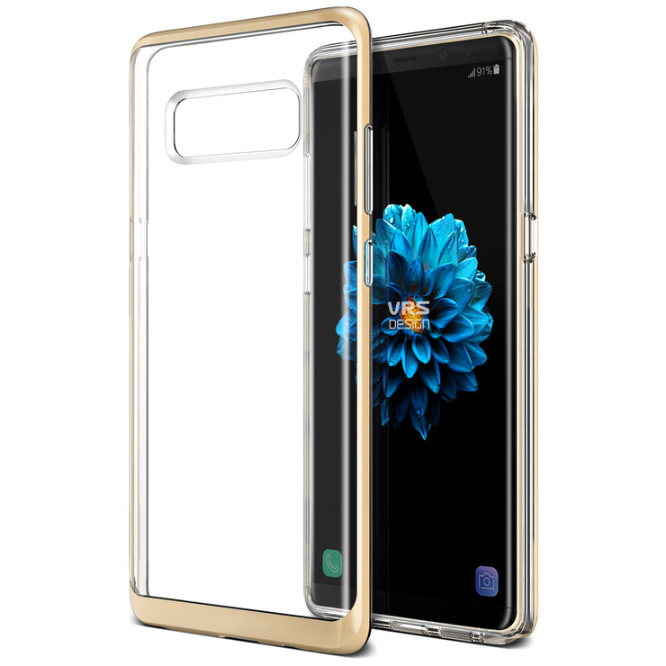 VRS Design | Crystal Bumper Case for Galaxy Note 8 - Shine Gold