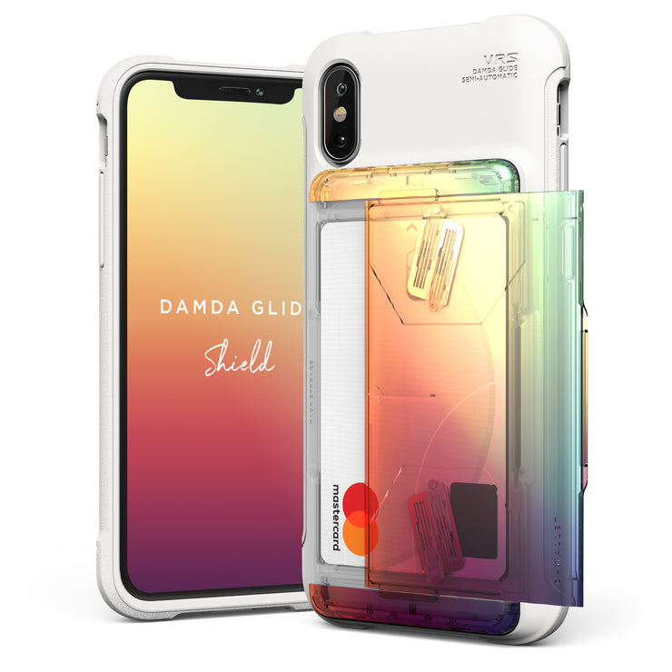 VRS Design | Apple iPhone Xs Max Case Damda Glide Shield series - Orange Purple