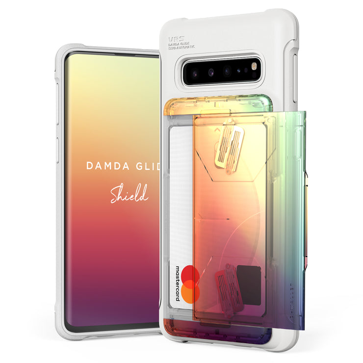 VRS Design | Galaxy S10 Case Damda Shield White Series - Orange Purple