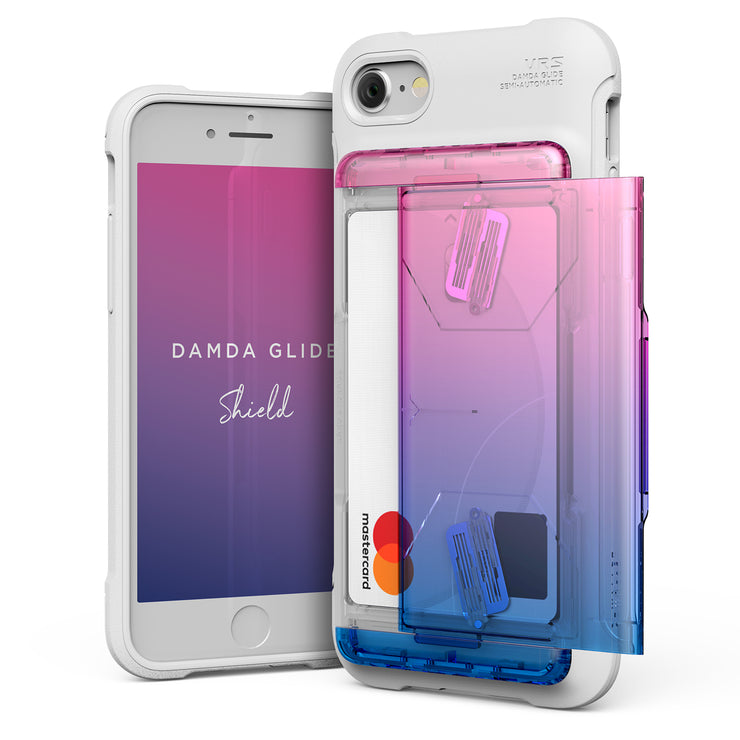 VRS Design | Apple iPhone 8/7 Case Damda Shield Solid White series - Pink Blue