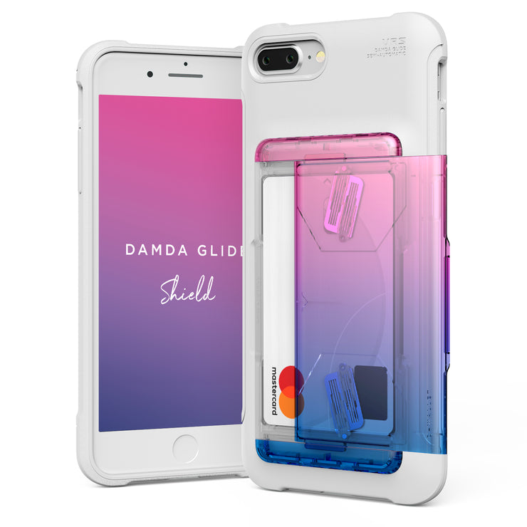 VRS Design | Apple iPhone 8/7 Plus Case Damda Shield Solid White series - Pink Blue
