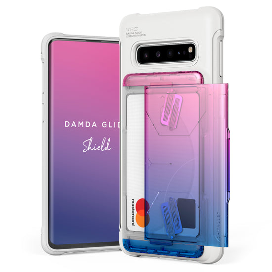 VRS Design | Galaxy S10 Case Damda Shield White Series - Pink Blue