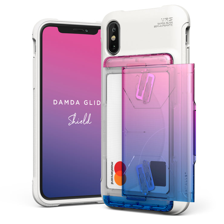 VRS Design | Apple iPhone Xs Case Damda Glide Shield series - Pink Blue