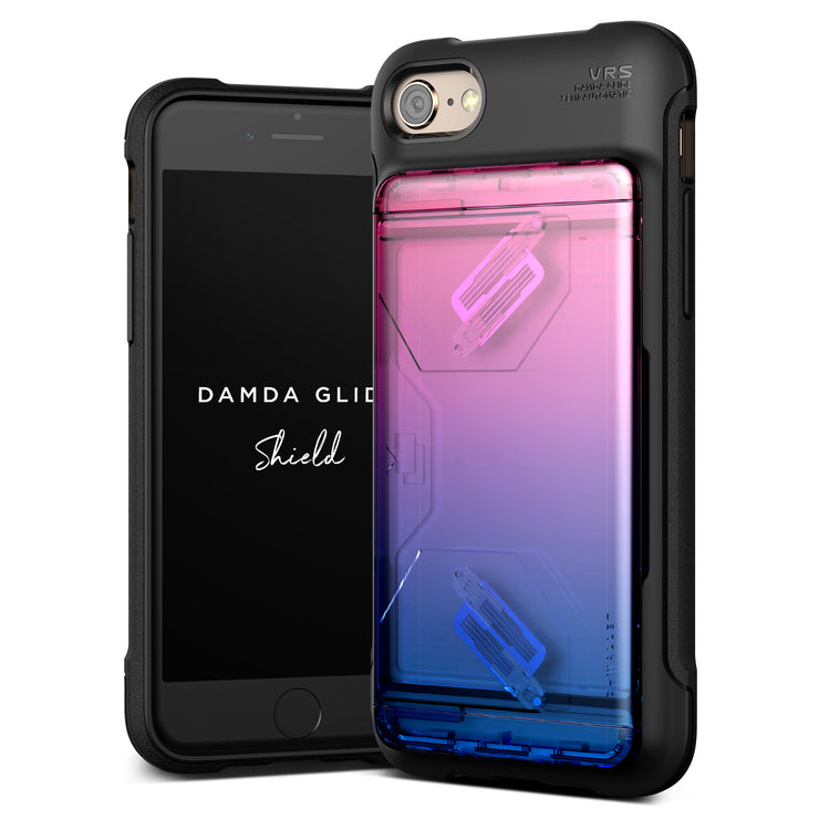 VRS Design | Apple iPhone 8/7 Case Damda Glide Shield series - Pink Blue