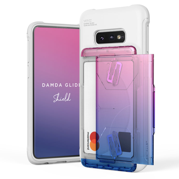 VRS Design | Galaxy S10e Case Damda Shield White Series - Pink Blue