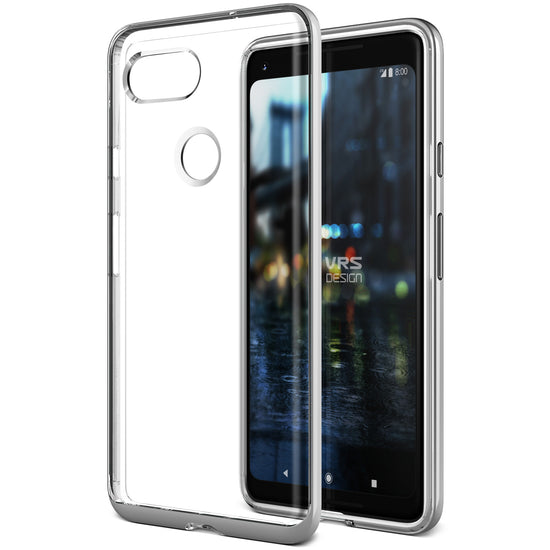 VRS Design [Crystal Bumper Series] Pixel 2 XL Case - Satin Silver