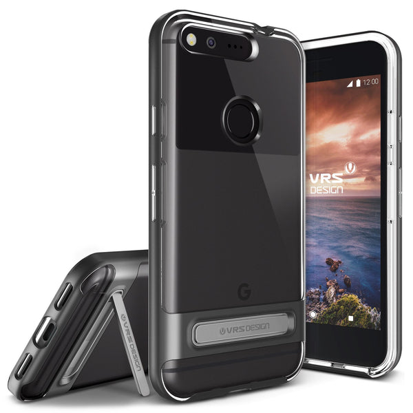 VRS Design [Crystal Bumper Series] Pixel Case - Dark Silver - Main
