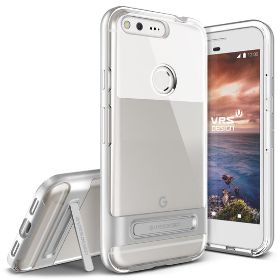 VRS Design [Crystal Bumper Series] Pixel XL Case - Satin Silver - Main