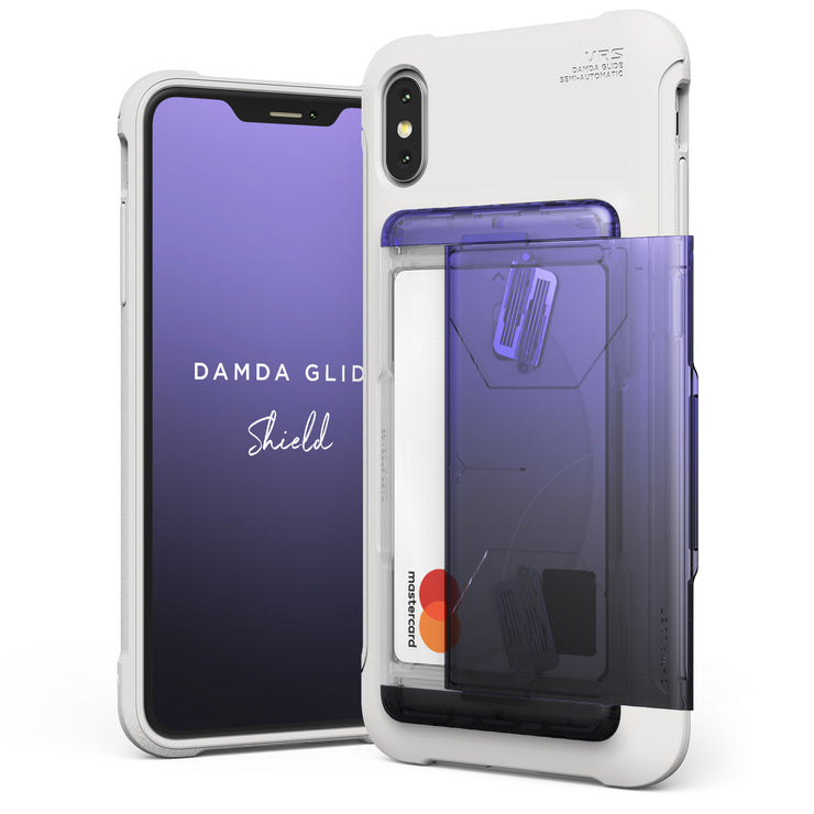 VRS Design | Apple iPhone Xs Max Case Damda Glide Shield series - Purple Black