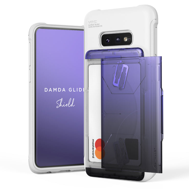 VRS Design | Galaxy S10e Case Damda Shield White Series - Purple Black