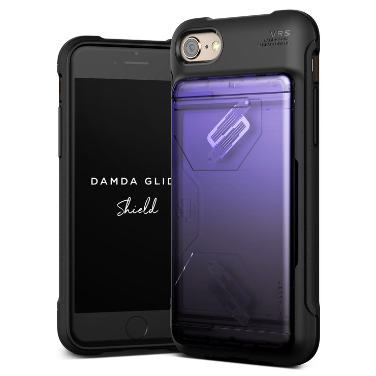 VRS Design | Apple iPhone 8/7 Case Damda Glide Shield series - Purple Black