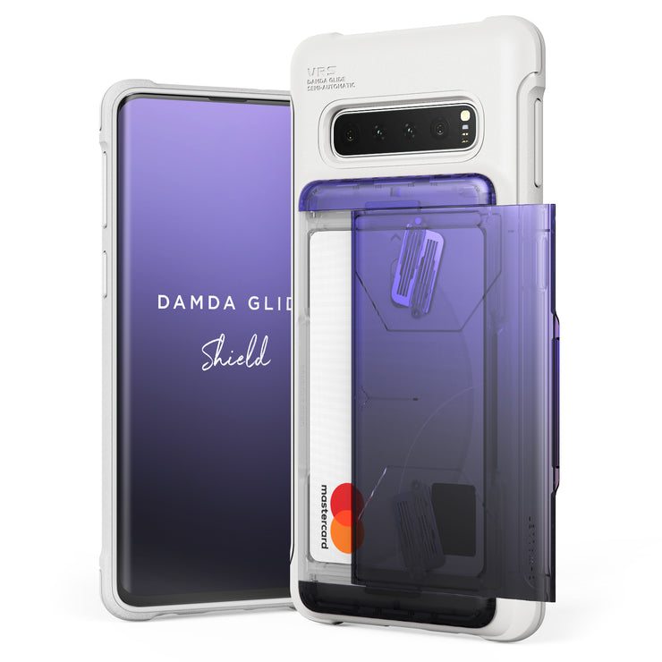 VRS Design | Galaxy S10 Case Damda Shield White Series - Purple Black